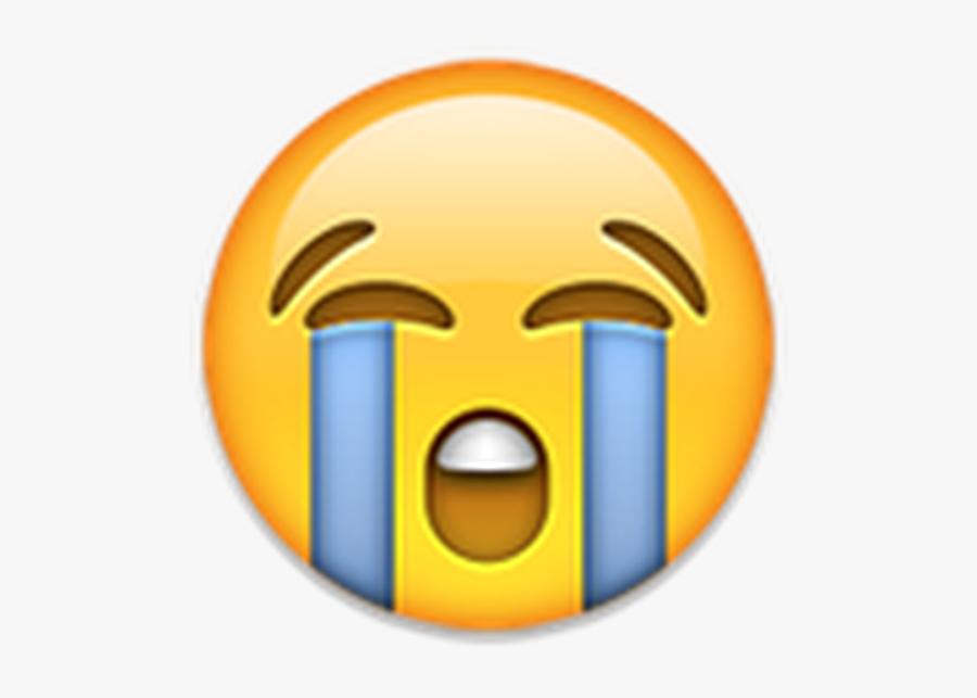 Face With Tears Of Joy Emoji Crying World Emoji Day - Sad Crying Emoji, Transparent Clipart