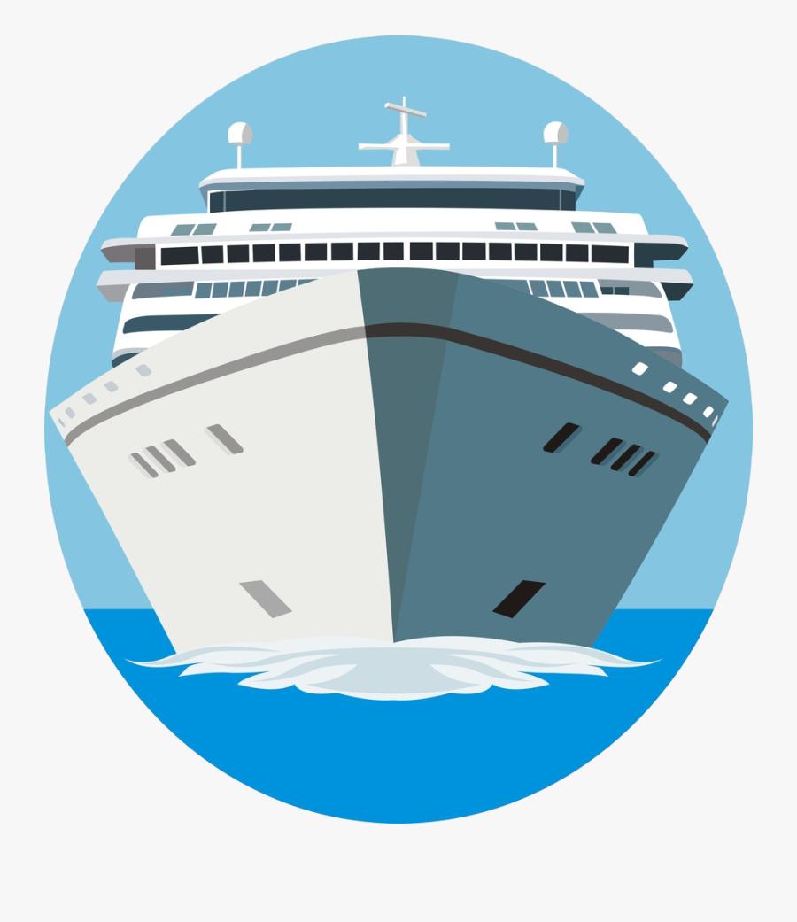 Cruise Ship Clipart Cargo Ship - Cruise Ship Front View, Transparent Clipart