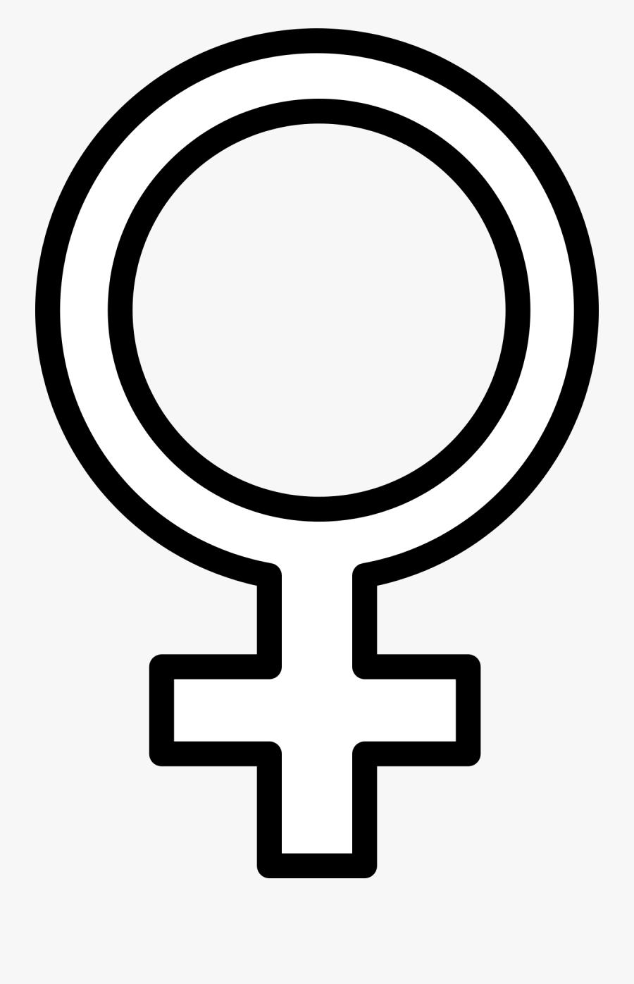 International Symbol For Male Clip Art Download - Female Symbol White Png, Transparent Clipart