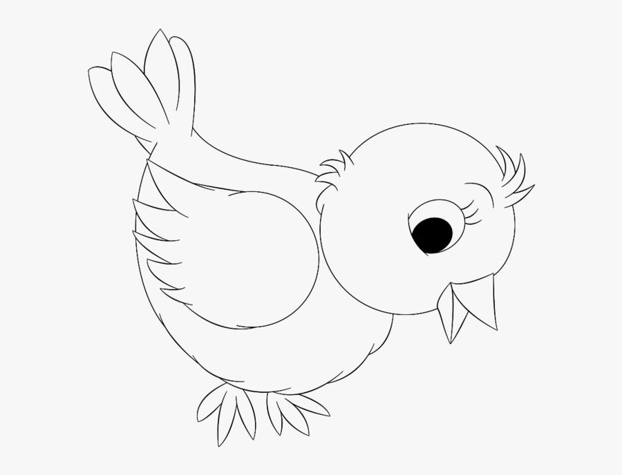 Bird Clipart Outline - Sketch, Transparent Clipart