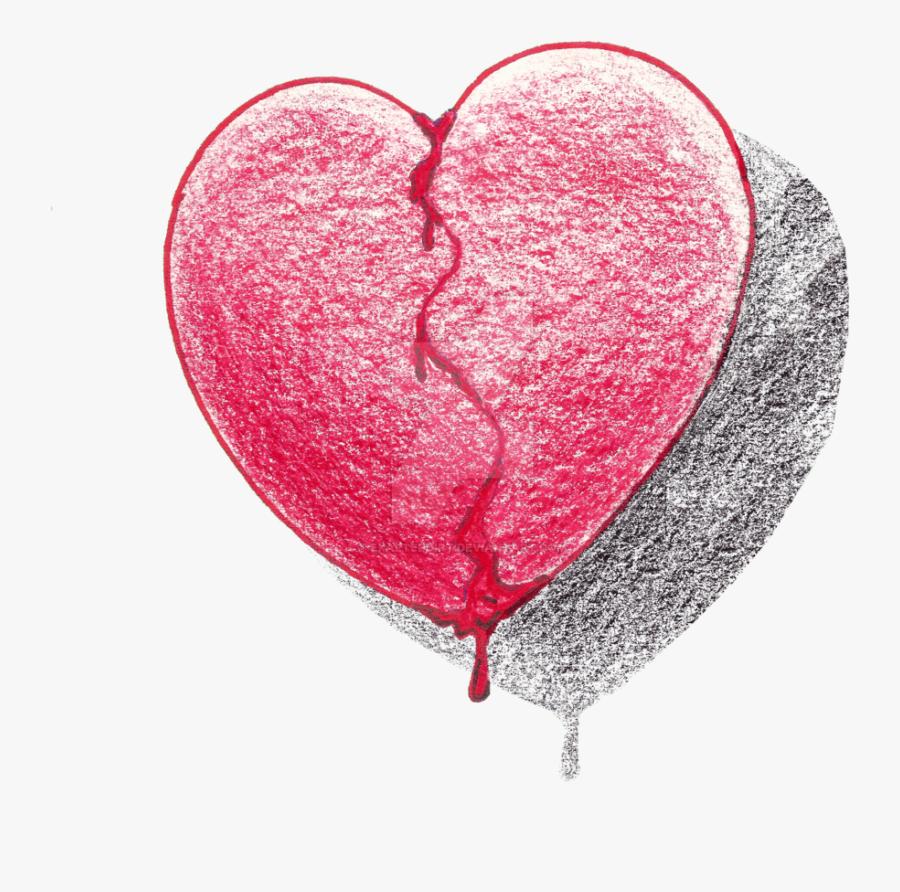 Razor Drawing Bleeding Love - Heart Broken Drawing Transparent, Transparent Clipart