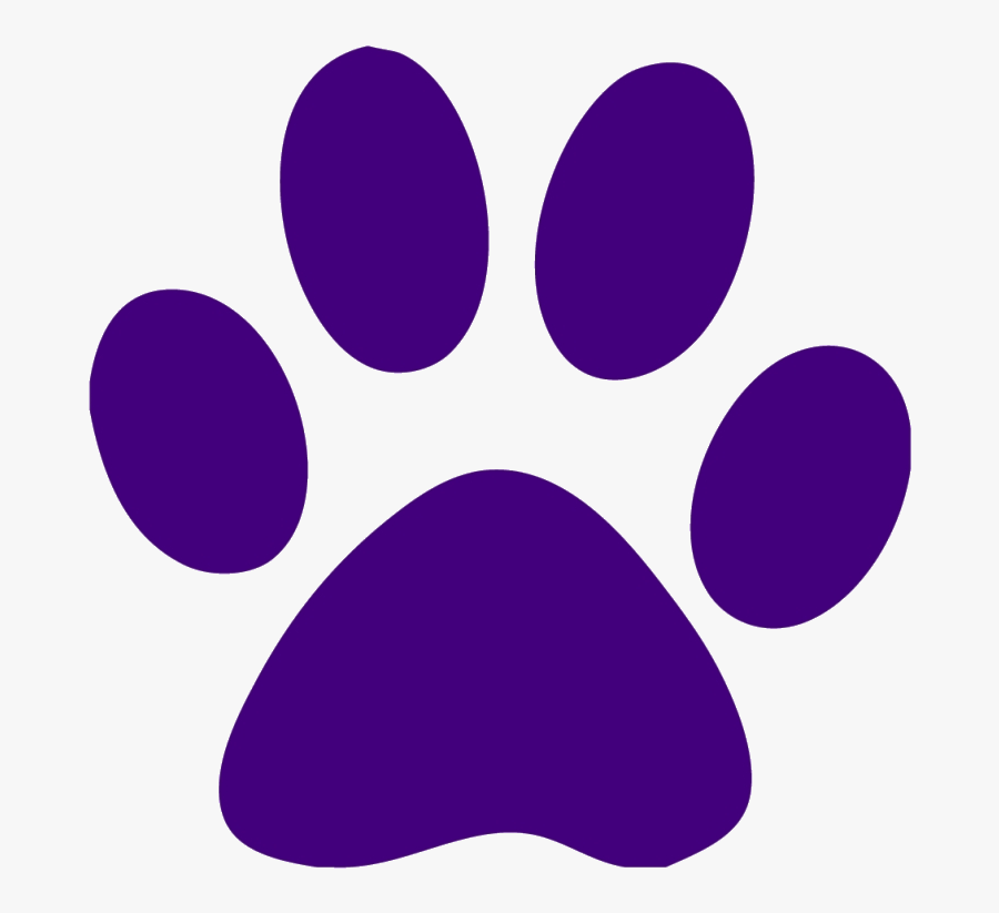 Dog Print Paw Clipart Real Free Cliparts Sale Ddbf - Purple Cat Paw Print, Transparent Clipart