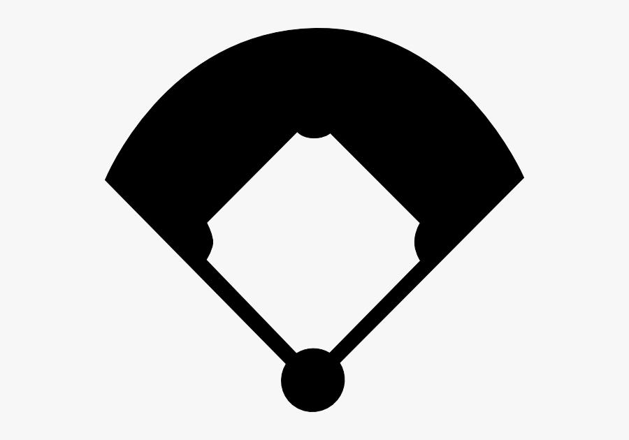 Clip Art Baseball Glove Silhouette - Baseball Field Clipart, Transparent Clipart