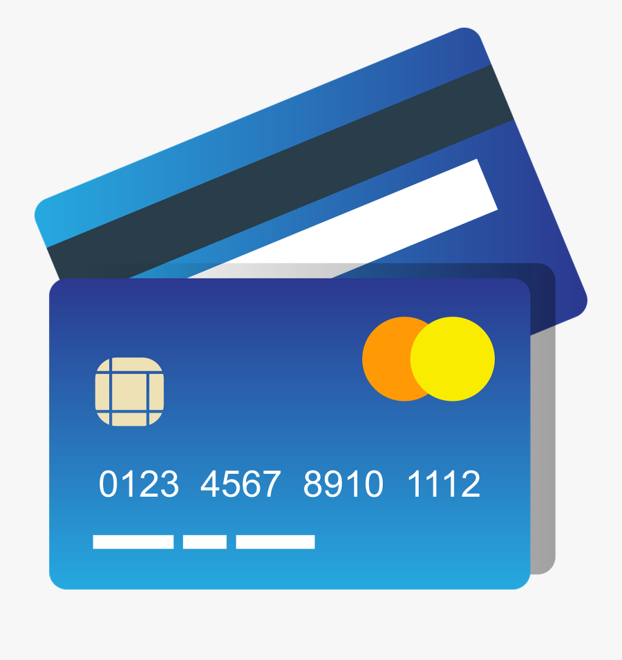 Blue Credit Card Clipart Photo - Credit Card Icon Png, Transparent Clipart