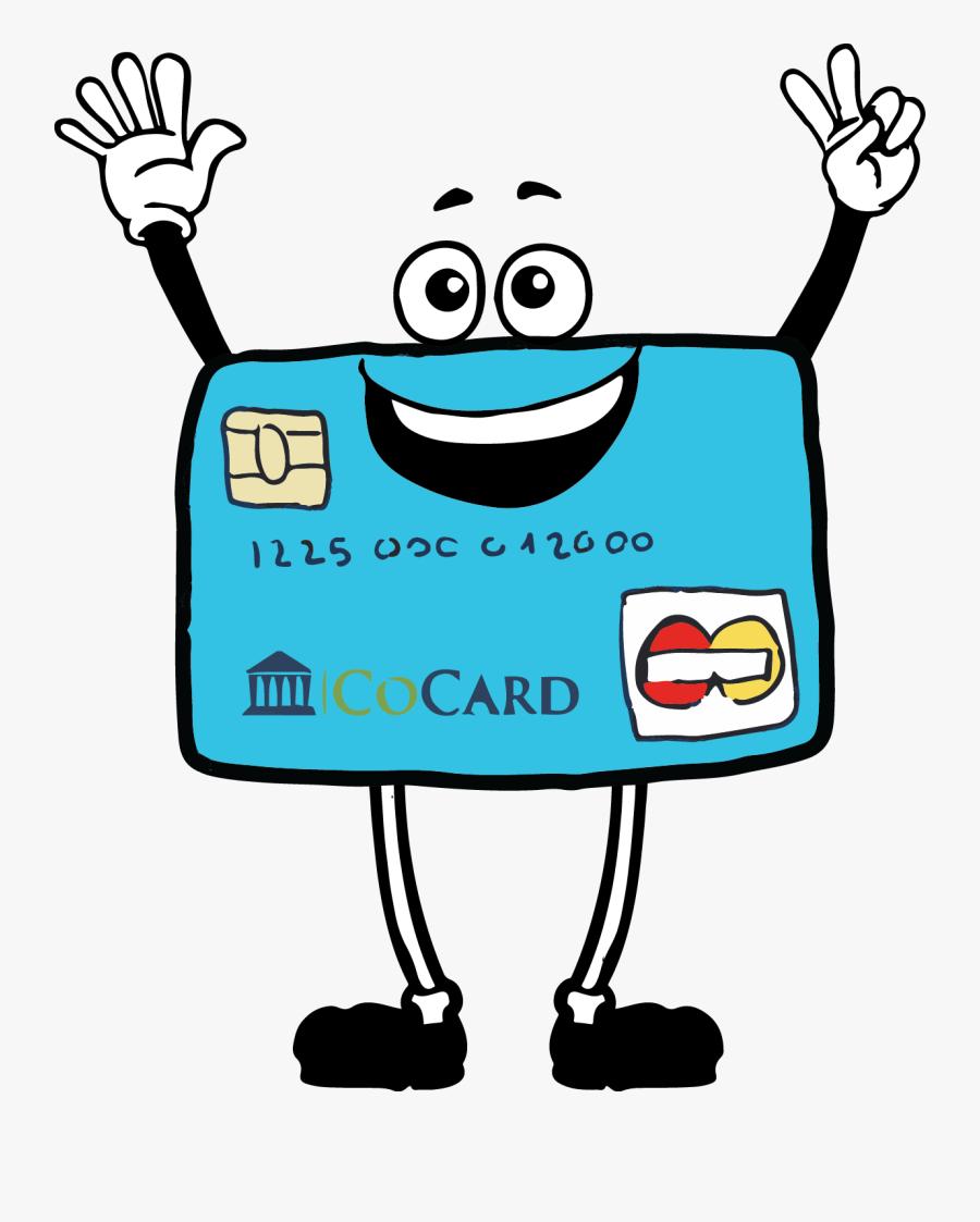 Chip The Credit Card - Cartoon Visa Credit Card, Transparent Clipart
