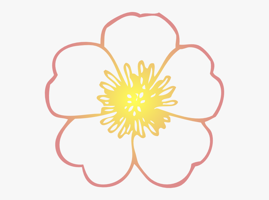 How To Set Use Coral And Yellow Hibiscus Flower Clipart - Coloring Pages Of Flower, Transparent Clipart