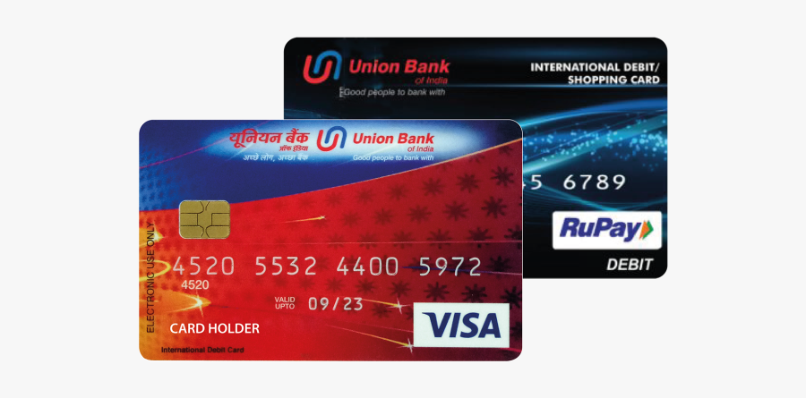 Debit Card Atm Card Credit Card Union Bank Of India - Mastercard, Transparent Clipart