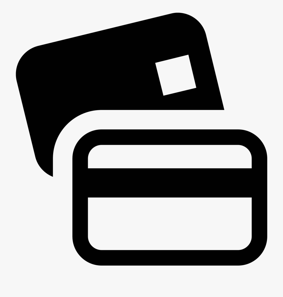Bank Cards Icon - Black Credit Card Icon, Transparent Clipart