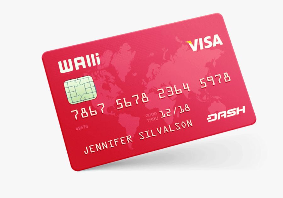 Mockup Credit Card Debit Card Payment Visa - Visa, Transparent Clipart