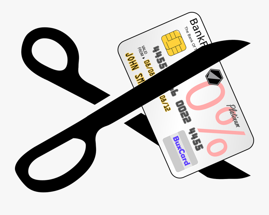Credit-card, Scissors, Cutting, Financial, Debt - Scissors Cutting Credit Card, Transparent Clipart