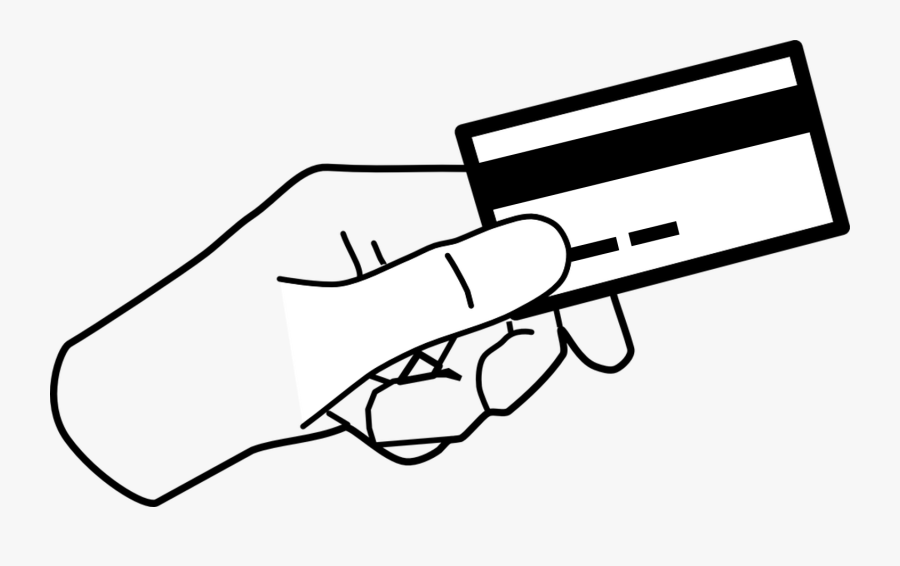 For Successful Management Of Credit Cards, You Can - Hand Holding Something Clipart, Transparent Clipart