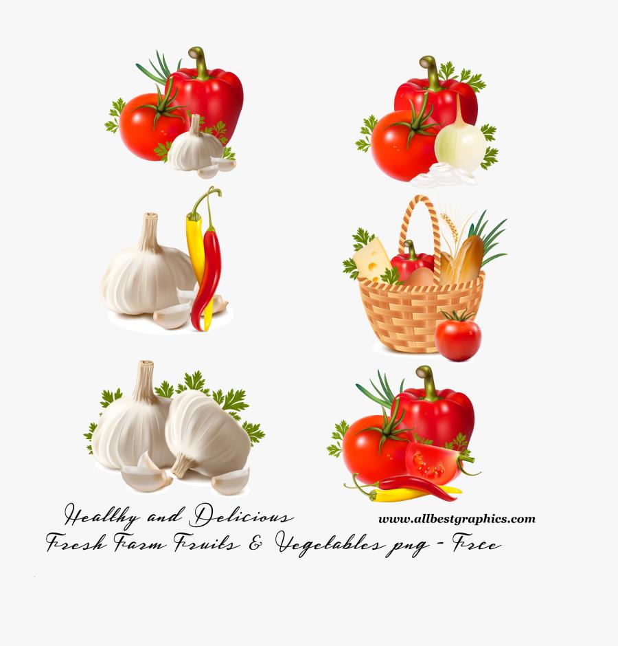 Vegetables In A Basket Cartoon Png, Transparent Clipart