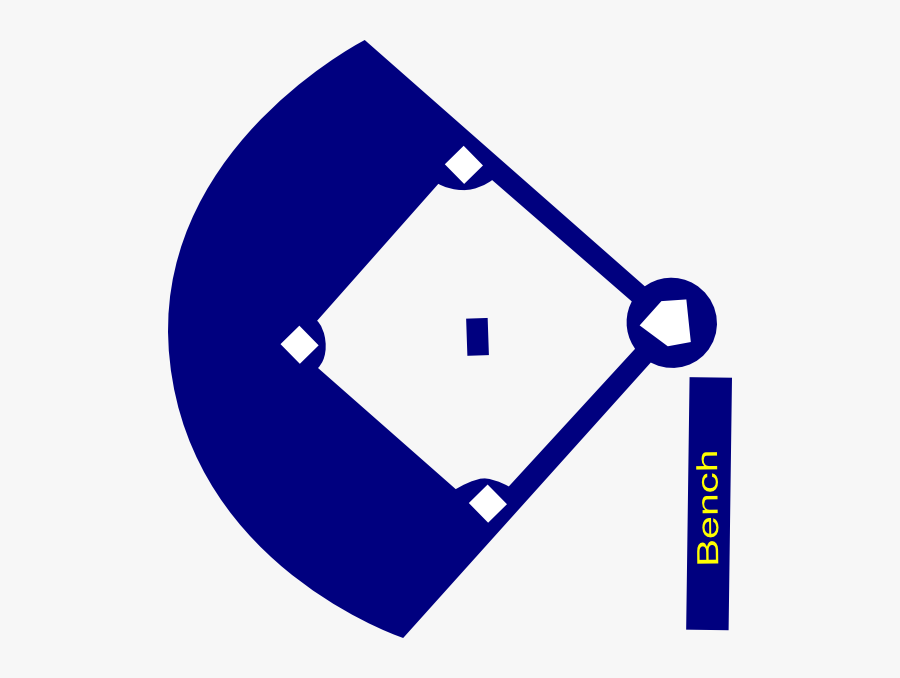 Baseball Field Navy Clip Art At Clker - Baseball Diamond Image Silhouette, Transparent Clipart