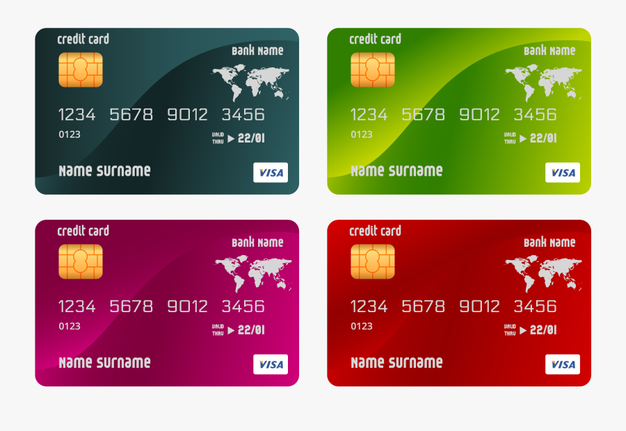 Credit Card Atm Card Template - Free Credit Card Number 2019, Transparent Clipart