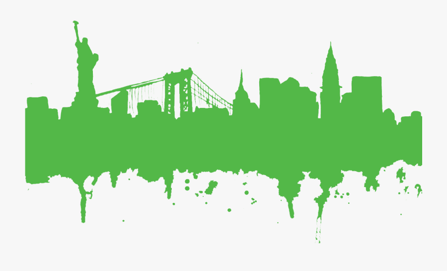 New York Skyline Silhouette Tattoo Clipart , Png Download - New York City Clipart Free, Transparent Clipart