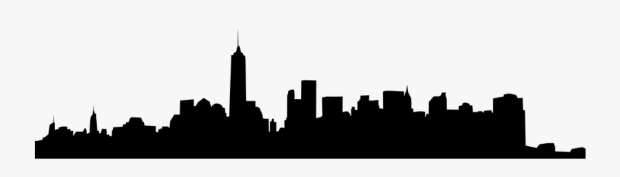 Ny Skyline Silhouette Transparent Png Clipart Free - New York City, Transparent Clipart