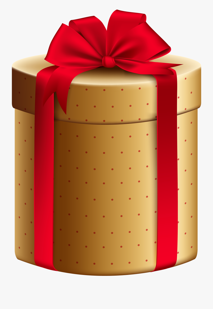 Gold Red Gift Box Png Clipart Image - Transparent Gift Box Png Hd, Transparent Clipart