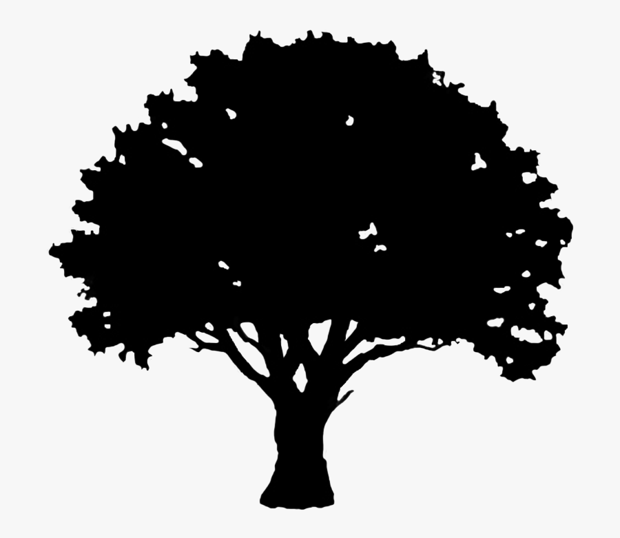 English Oak Tree Silhouette Clip Art - Oak Tree Silhouette Svg, Transparent Clipart