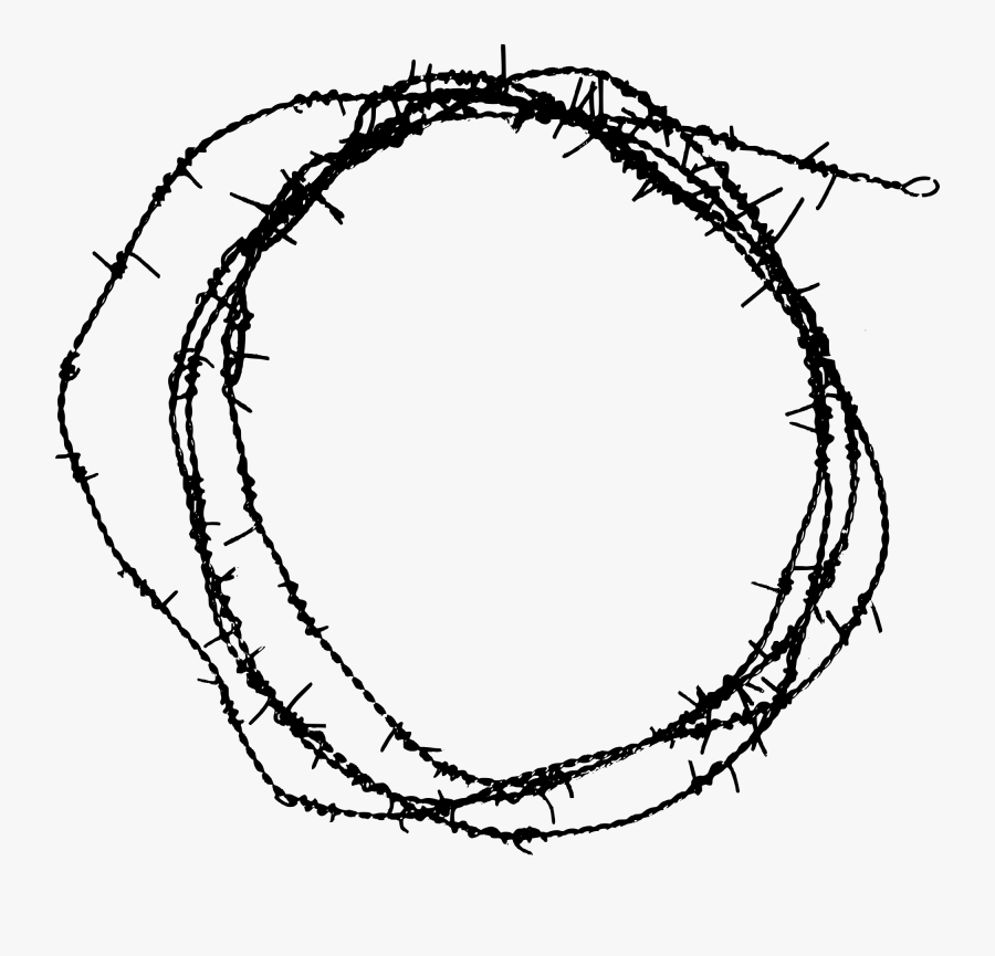 Barbed Wire Drawing At Getdrawings - Free Barbed Wire Circle, Transparent Clipart