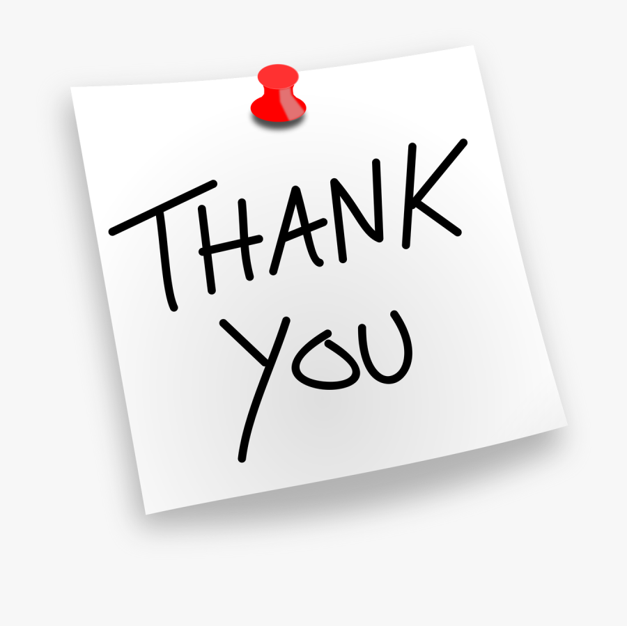 Thank You Pinned - Thank You Clipart For Ppt, Transparent Clipart