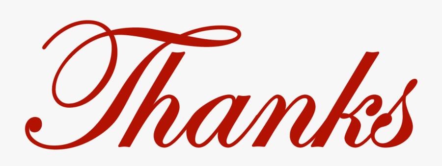 Christmas Thank You Clip Art 6 - Thanks Clipart, Transparent Clipart