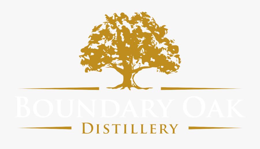 Old Oak Tree Logo, Transparent Clipart
