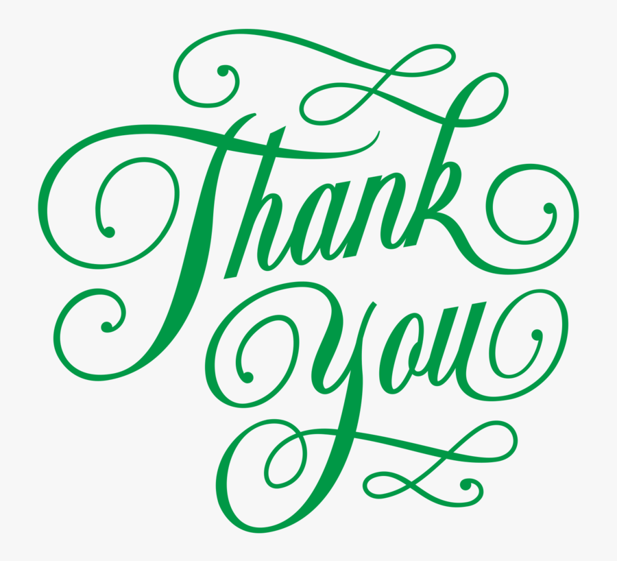 Thank You Clipart Calligraphy - Thank You Png Hd, Transparent Clipart