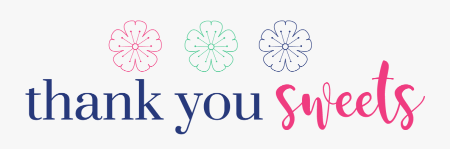 Sweet Clipart Thank You - Thank You Sweets Girl, Transparent Clipart