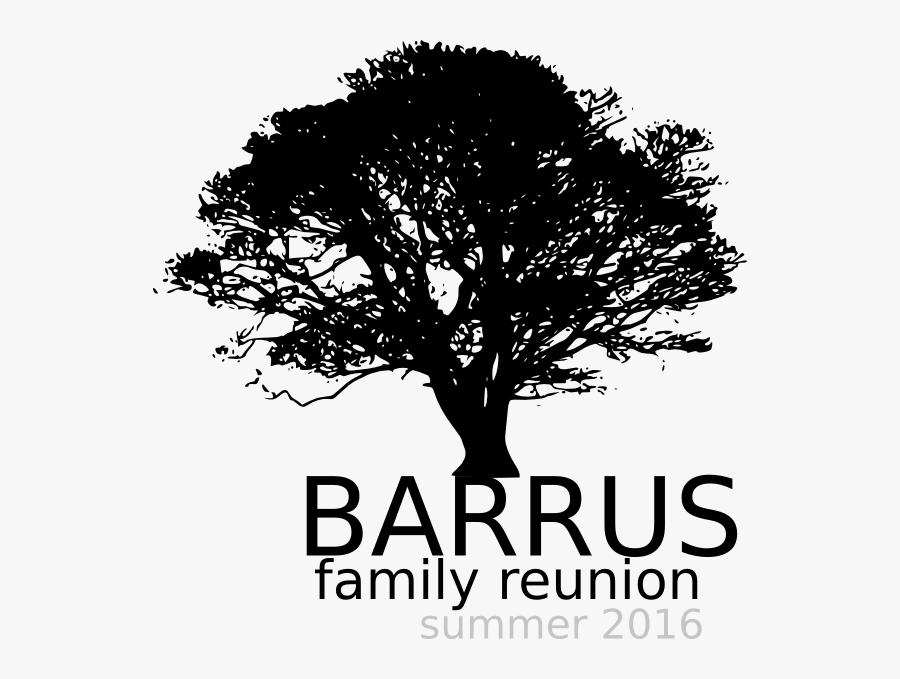 Transparent Family Tree Clip Art - Oak Tree Silhouette Png, Transparent Clipart