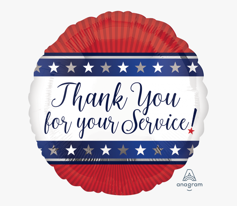 Thank You For Your Service Balloons, Transparent Clipart