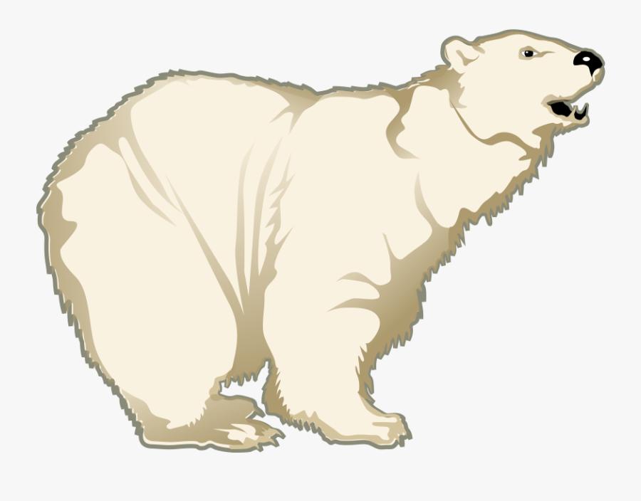 Polar Bear Free To Use Clip Art - Polar Bear Cartoon Transparent Background, Transparent Clipart