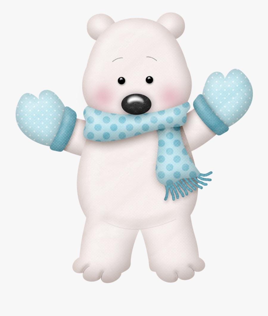 Polar Clipart Winter - Winter Polar Bear Clip Art, Transparent Clipart