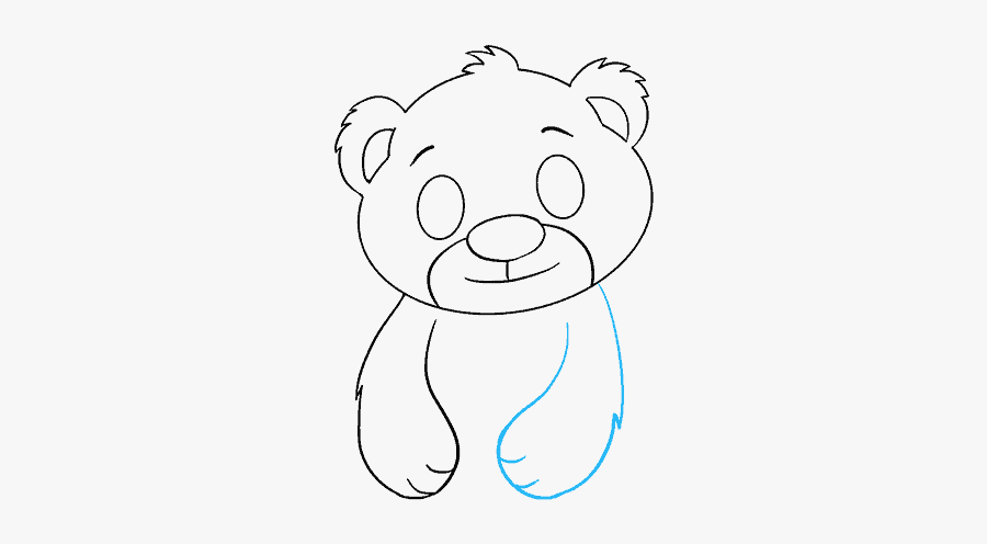 Clip Art How To Draw A - Easy Drawing Polar Bears, Transparent Clipart