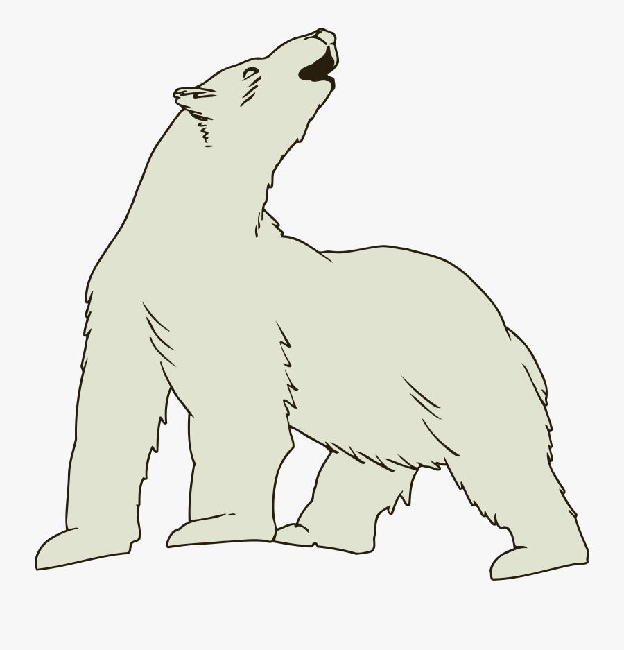 Polar Bear - Clip Art Polar Bear, Transparent Clipart