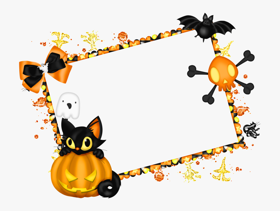 Clip Art Royalty Free Halloween Clipart Border - Transparent Background Halloween Frame, Transparent Clipart