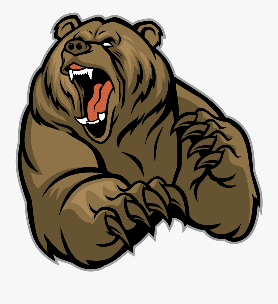 Clip Art Brown Grizzly Animals - Grizzly Bear Mascot, Transparent Clipart