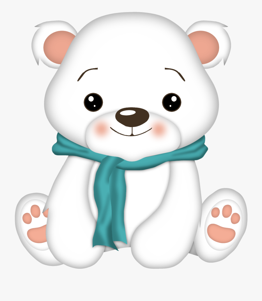 Download Picture Freeuse Download Kawaii Clipart Polar - Baby Cute Polar Bear Clipart, Transparent Clipart