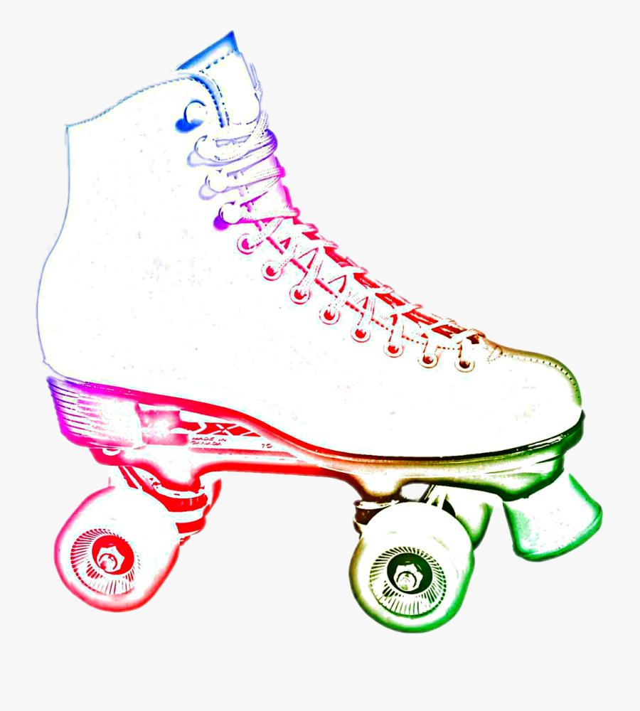 #neon Roller Skate #fun #childhood - Clip Art Roller Skate Png, Transparent Clipart