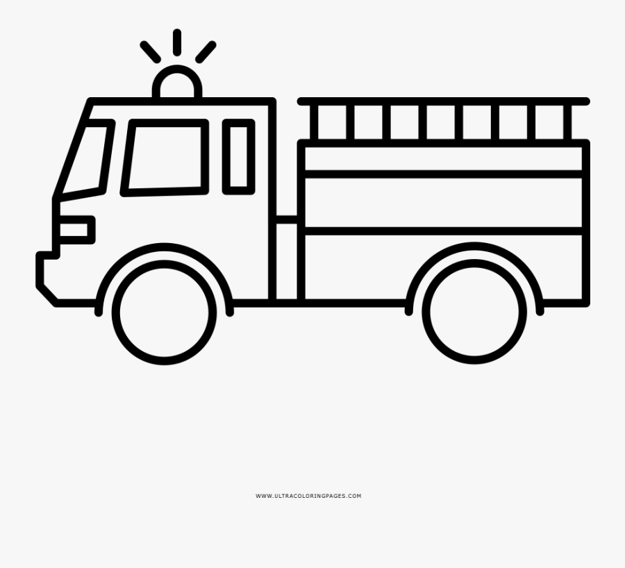 Fire Truck Coloring Page , Free Transparent Clipart - ClipartKey
