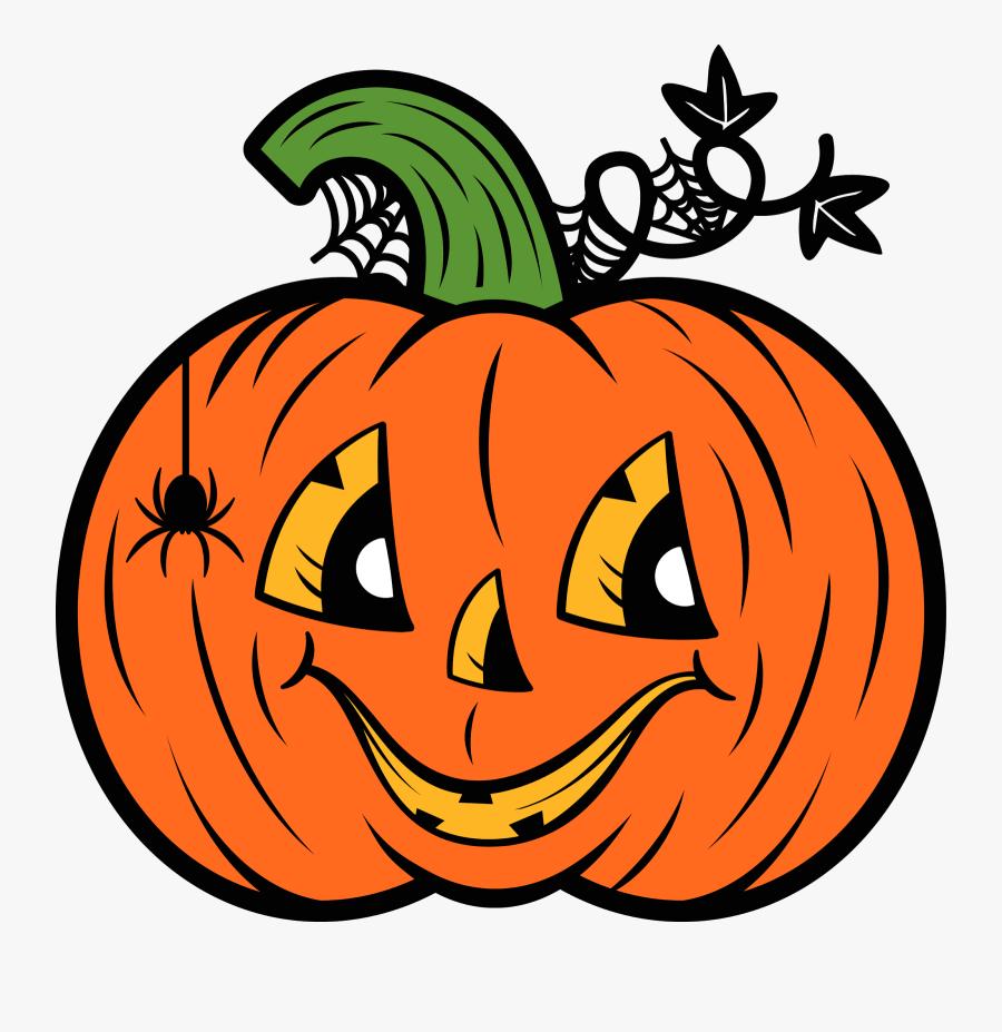 Roller Skating Pumpkin Clipart - Clip Art Jack O Lantern, Transparent Clipart