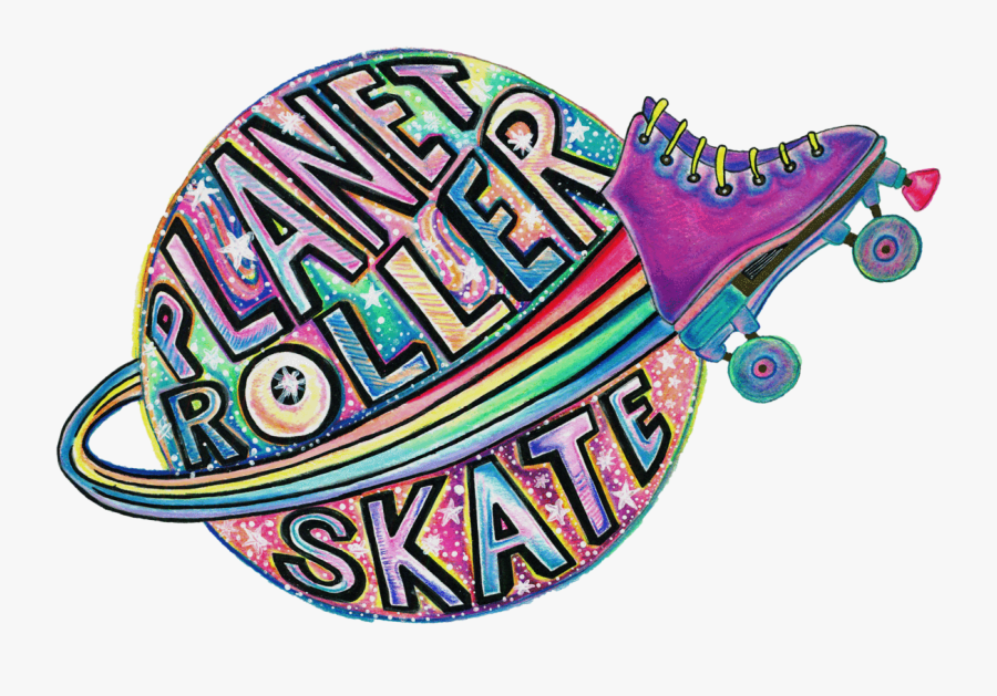 Planet Roller Skate Stickers, Transparent Clipart