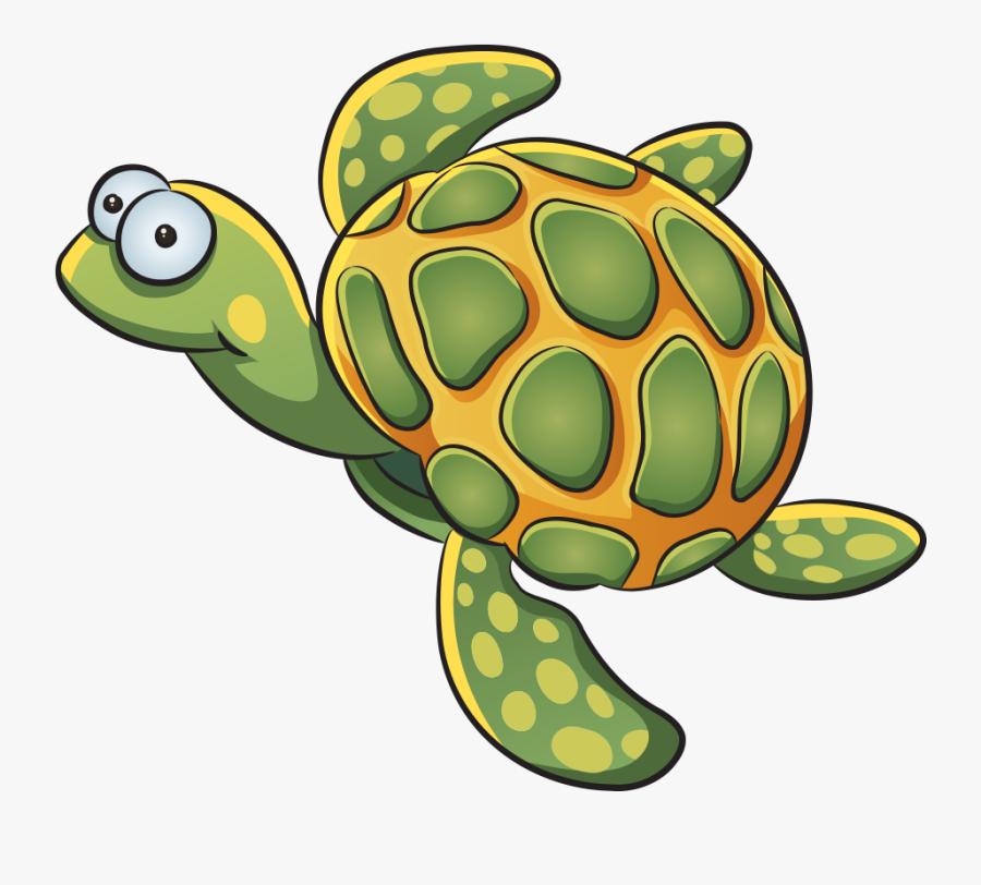 Clip Art Cartoon Sea Turtle Pictures - การ์ตูน สัตว์ น่า รัก, Transparent Clipart