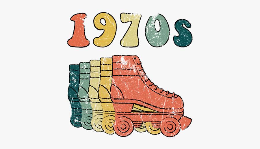 Vintage Roller Skate Art, Transparent Clipart