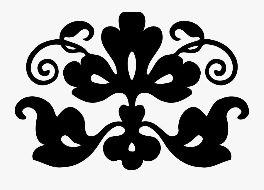 Visual Arts,plant,flower - Simple Design Images Black And White, Transparent Clipart