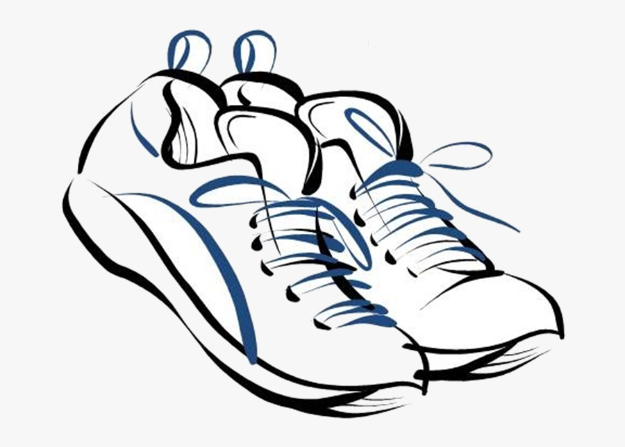 Track Shoe Clip Art Clipart Image Transparent Png - Running Shoes Drawing, Transparent Clipart