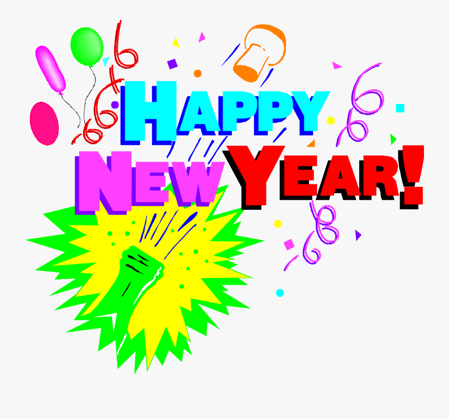 Clip Art New Years Eve Party Clip Art - Happy New Year 2020, Transparent Clipart