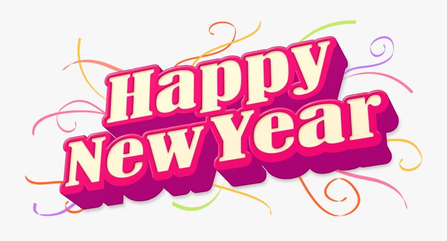 Clip Art Free New Years Eve Clip Art - Happy New Year Text Png Hd, Transparent Clipart