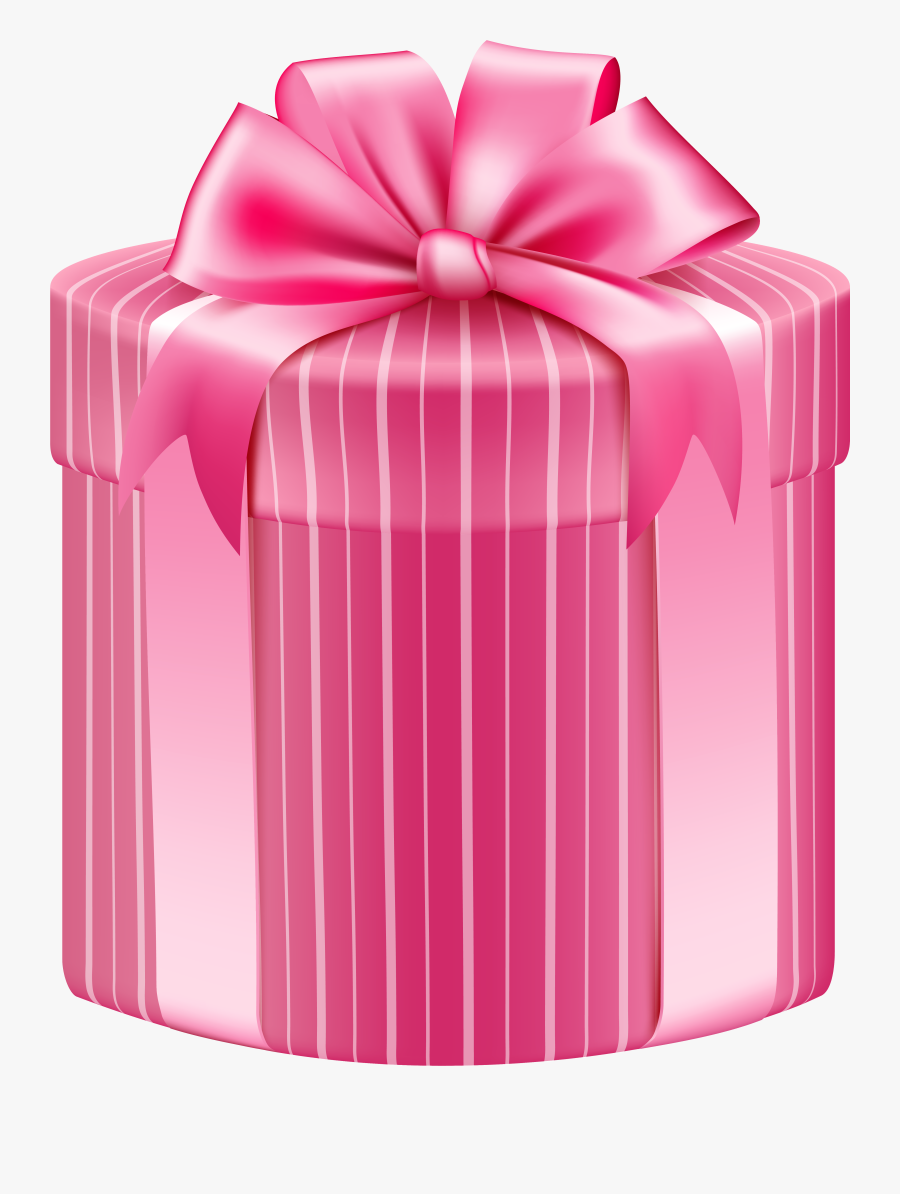 Gifts Clipart Pink Gift - Pink Gift Box Transparent, Transparent Clipart