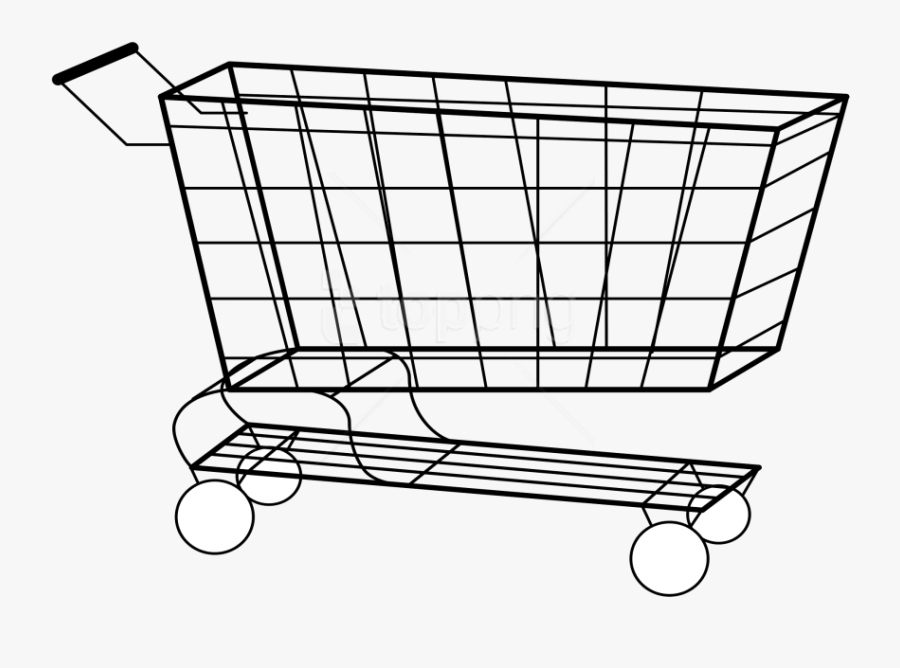 Download Shopping Cart Clipart Png Photo - Shopping Cart Outline Png, Transparent Clipart