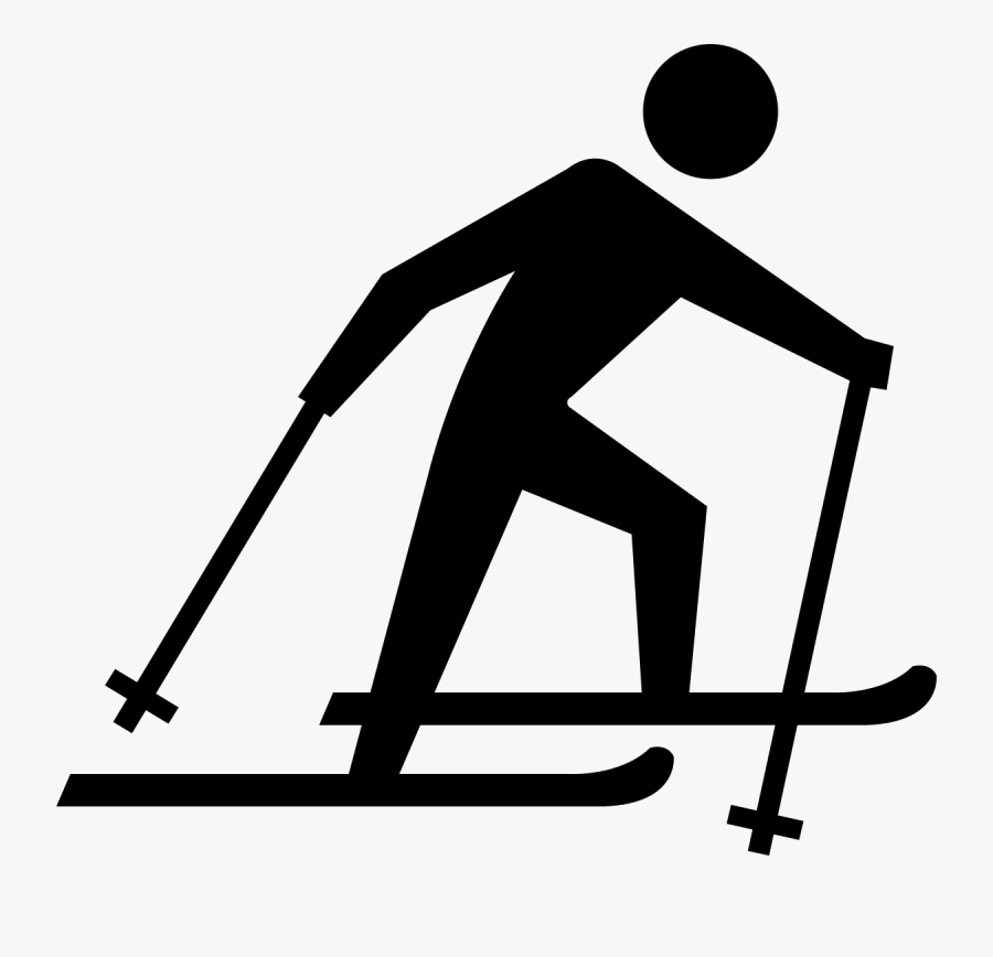 Transparent Skiing Clipart - Clipart Cross Country Skiing, Transparent Clipart